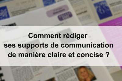 Atelier Comment Rédiger Ses Supports De Communication De Manière Claire Et Concise? à Audincourt