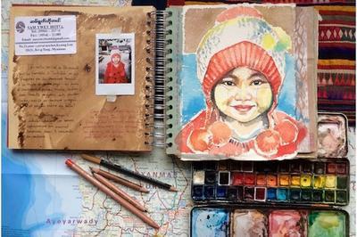 Atelier D'initiation à L'art Du Portrait - Carnet De Voyage Par Stéphanie Ledoux à Saintes