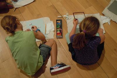Atelier En Famille Portrait Haut En Couleurs à Giverny