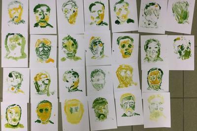 Atelier Jeune Public Autour Du Monotype En Lien Avec L'exposition Résonances De L'atelier Guyanne à Lagny sur Marne
