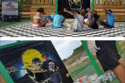 Ateliers Graff Pour Les Enfants Animés Par Le Graffeur Diips à Perpignan