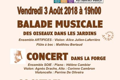 Balade musicale et concert à la forge de Buffon en Bourgogne