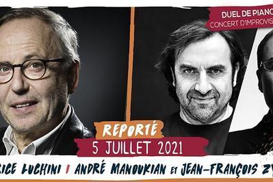 Fabrice Luchini / André Manoukian et JF Zygel à Saint Malo du Bois