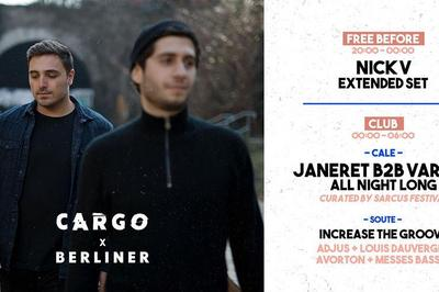 CargØ x Verliner invite Janeret B2b Varhat all night long, Nick v & More à Paris à Paris 11ème