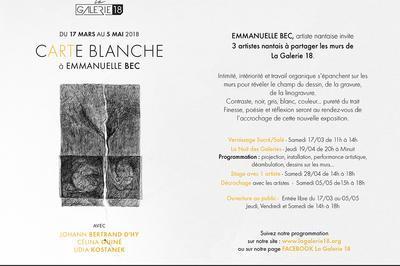 Carte blanche à Emmanuelle Bec à Nantes