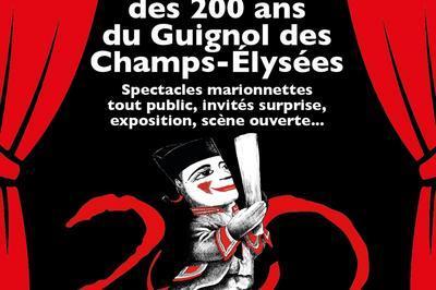 Célébration des 200 ans du Guignol des Champs-Élysées à Paris 8ème