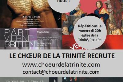 Concert de Noël du Choeur de la Trinité à Paris 9ème