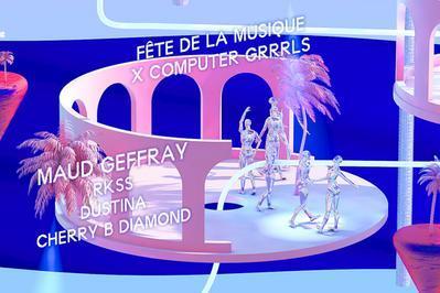 Computer Grrrls : Maud Geffray + Cherry B Diamond + Rkss + Dustina à Paris 2ème