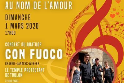 Concert Con Fuoco: « Au Nom De L'amour » à Toulon
