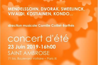 Concert d'été à Paris 11ème