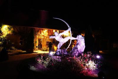 Concert De Gospel Et Mise En Lumière Des Sculptures à Egreville