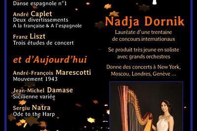 Concert de Harpe   par la jeune Virtuose Nadja Dornikn - Lauréate de 30 concours internationaux à Paris 17ème