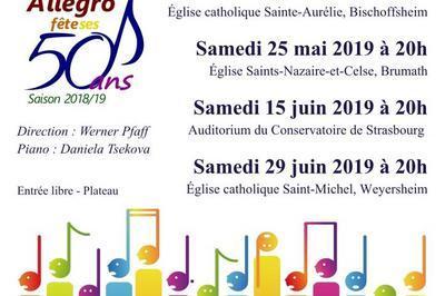Concert de l'Ensemble vocal Allegro de Strasbourg à Brumath