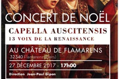 Concert De Noël 2017 Au Chateau De Flamarens - Capella Auscitencis