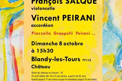 Concert De Poche : François Salque Violoncelle Vincent Peirani Accordéon à Blandy
