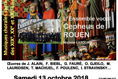 Concert échange choral : chœurs Vox humana et Cepheus à Amiens