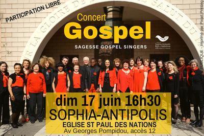 Concert Gospel à Sophia Antipolis