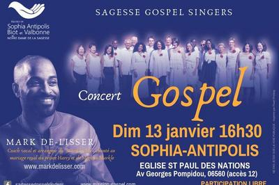 Concert gospel Sagesse gospel singers à Sophia Antipolis