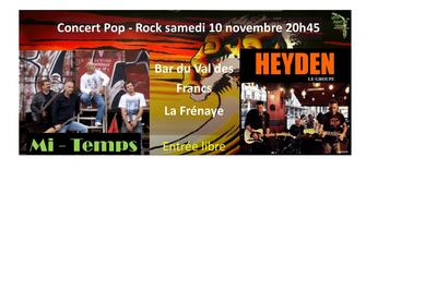 Mi-Temps / Heyden - pop rock à La Frenaye