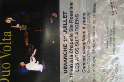 Concert saxophone et piano suivi d'une dégustation de vin à Les Arcs