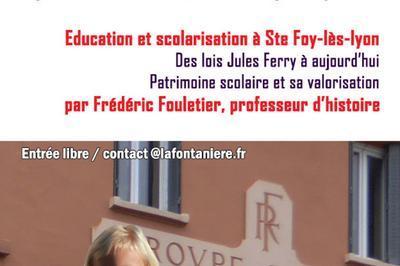 Conférence à Sainte Foy les Lyon