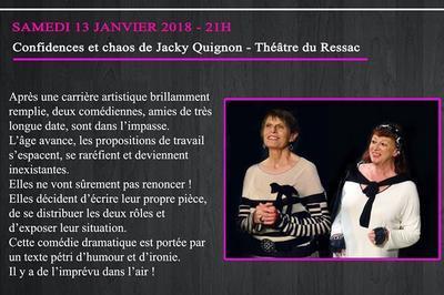 Confidences et Chaos par le Théâtre du Ressac à Poussan