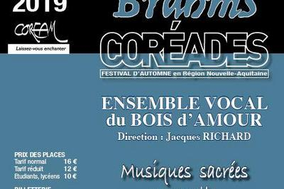 Coréades : Ensemble Vocal Le Bois d' Amour à Fontaine le Comte