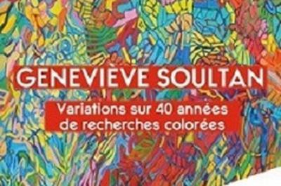 Exposition rétrospective d'œuvres de geneviève soultan à Meudon la Foret