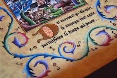Démonstration De Calligraphie Et D'enluminure à Saint Gervais les Bains