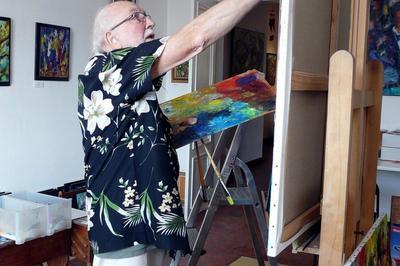 Démonstration Des Techniques D'un Artiste Peintre à Guise