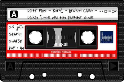 Dickie Jones & the Panther Gods/Broken Case/Kurt/Dirty Five à Toulouse