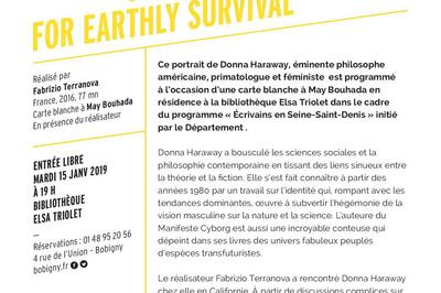 Donna Haraway : story telling for earthly survival - Les mardis du documentaire à Bobigny