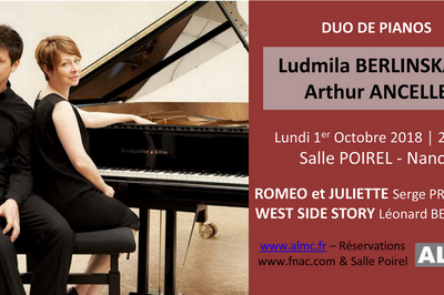 Duo de Pianos Berlinskaïa Ancelle à Nancy