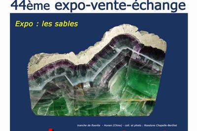 44 ème exposition vente échange minéraux et fossiles à Saint Nazaire