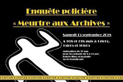 Enquête Policière Aux Archives Du Jura à Montmorot