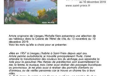 Expo Michéle Klein à Saint Yrieix la Perche