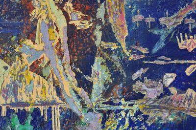 Exposition Archéospace, peinture sculptée à Montreuil