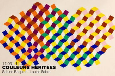 Exposition Couleurs héritées de Sabine Boquier et Louise Fabre à Limay