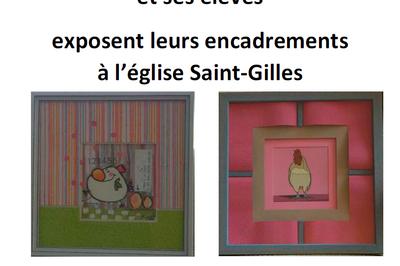 Exposition D'encadrement D'art De Régine Tisserand-fontaine Et Ses Élèves à Ambialet