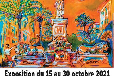 Exposition de peinture espace Créazione à Porticcio