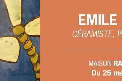 Exposition Emile Simonod, céramiste, peintre et poète à Morestel