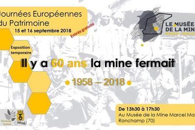 Exposition : Il Y A 60 Ans, La Mine Fermait à Ronchamp