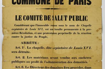 Exposition La Chapelle Expiatoire Sous La Commune De Paris (1871) à Paris 8ème