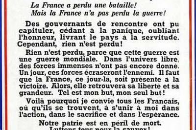 Exposition Les Français Libres Et Leur Chef, Le Général De Gaulle à Le Teil