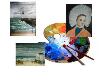 Exposition  peintures Maryse Leroux à Calais