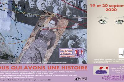 Exposition Nous Qui Avons Une Histoire à Brest