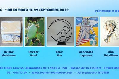 Exposition peinture et sculpture à Bouee