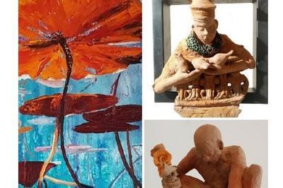 Exposition peinture et sculpture par Ariel Rosin et Fred Morice à Villers sur Mer