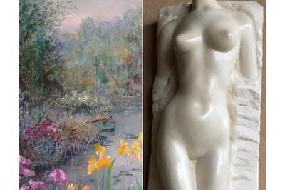 Exposition peintures et sculptures D.Bakk et R.Moulin à Villers sur Mer