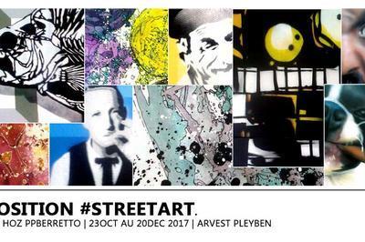 Exposition #streetart à Pleyben